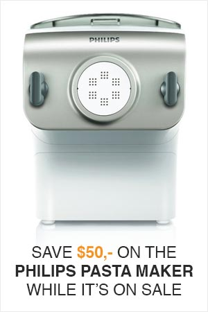 Buy the Philips Pasta Maker while it is on sale